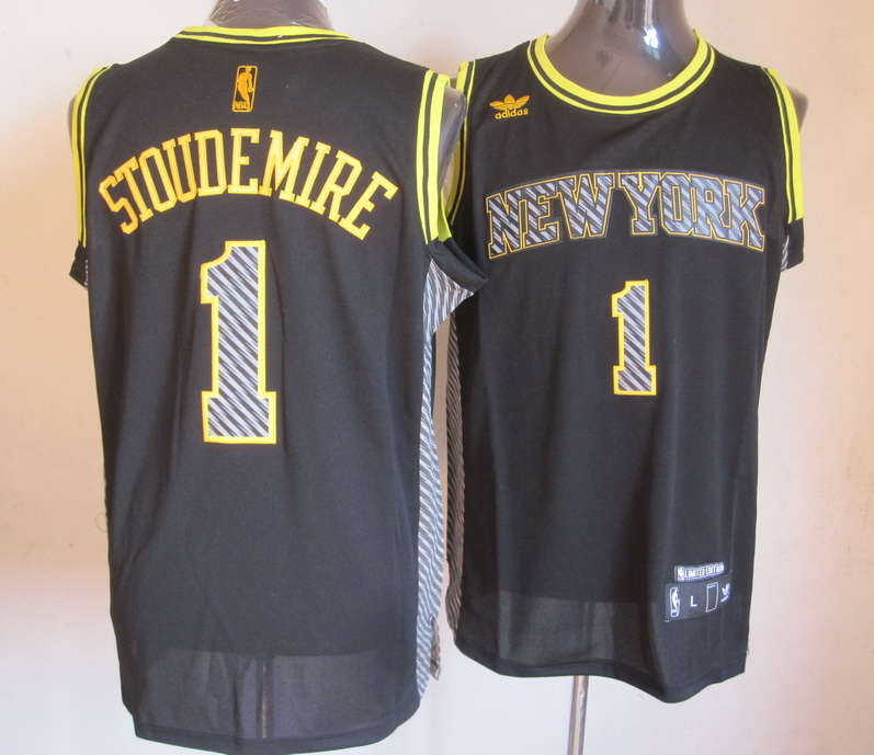 NBA New York Knicks 1 Stoudemire 2013 Lightning New Black Jerseys