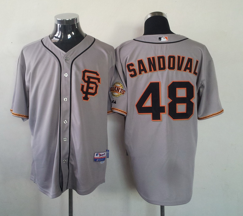 MLB San Francisco Giants 48 Pablo Sandoval Gray Jersey