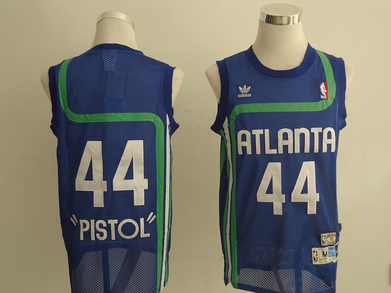 NBA Atlanta Hawks 44 Plstol blue Jerseys