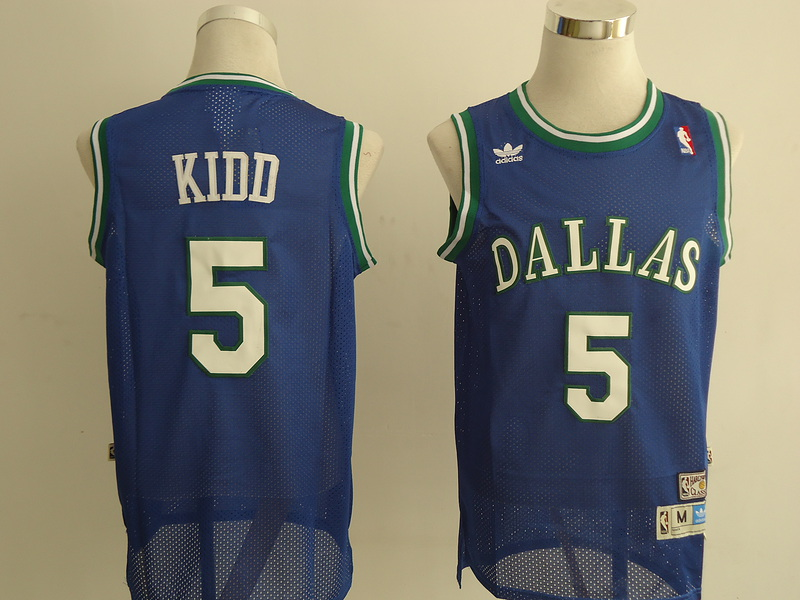 NBA Dallas Mavericks 5 Kidd blue Jerseys