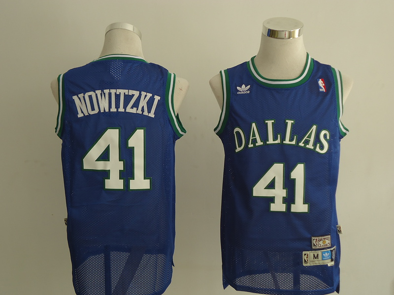 NBA Dallas Mavericks 41 Nowitzki blue Jerseys
