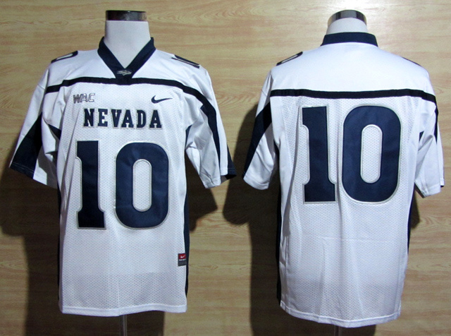 NCAA Nike Nevada Wolf Pack 10 Colin Kaepernick Blue WAC Patch College Football Jerseys
