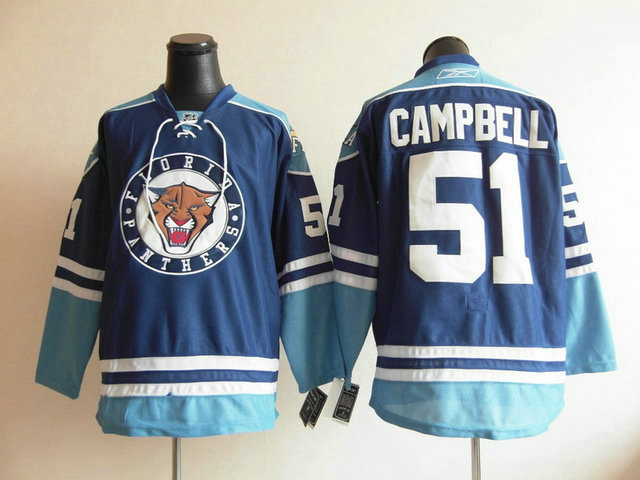 NHL Florida Panthers 51 Brian Campbell Blue