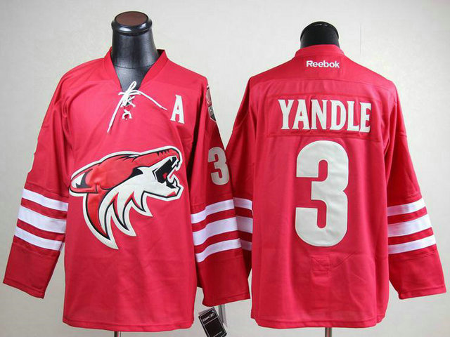 NHL Phoenix Coyotes 3 Keith Yandle Red A Patch