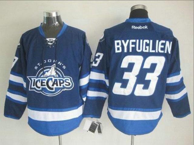 NHL Winnipeg Jets 33 Dustin Byfuglien Blue St. John's IceCaps