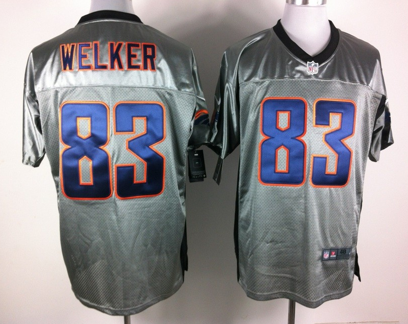 Denver Broncos 83 Wes Welker Nike Elite Gray shadow jerseys