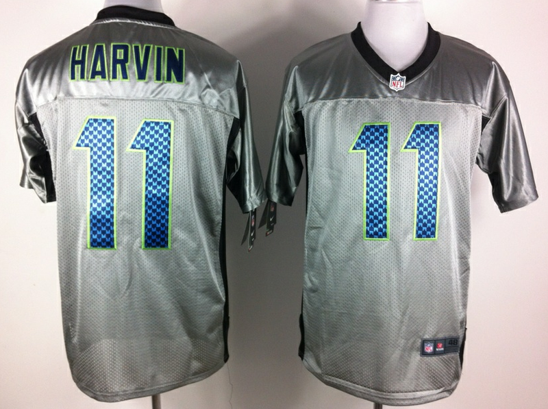 Seattle Seahawks 11 Harvin Nike Elite Gray shadow jerseys