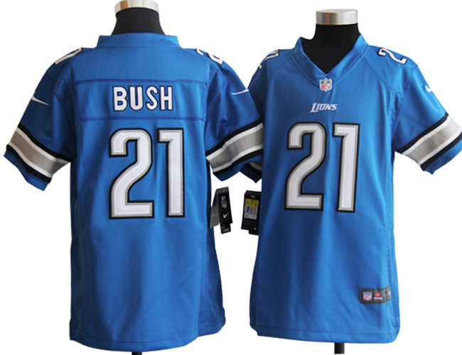 Detroit Lions 21 Reggie Bush Blue youth Nike Jerseys