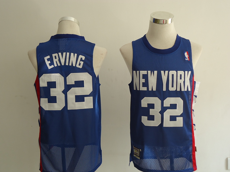 NBA Brooklyn Nets 32 Erving blue Jerseys