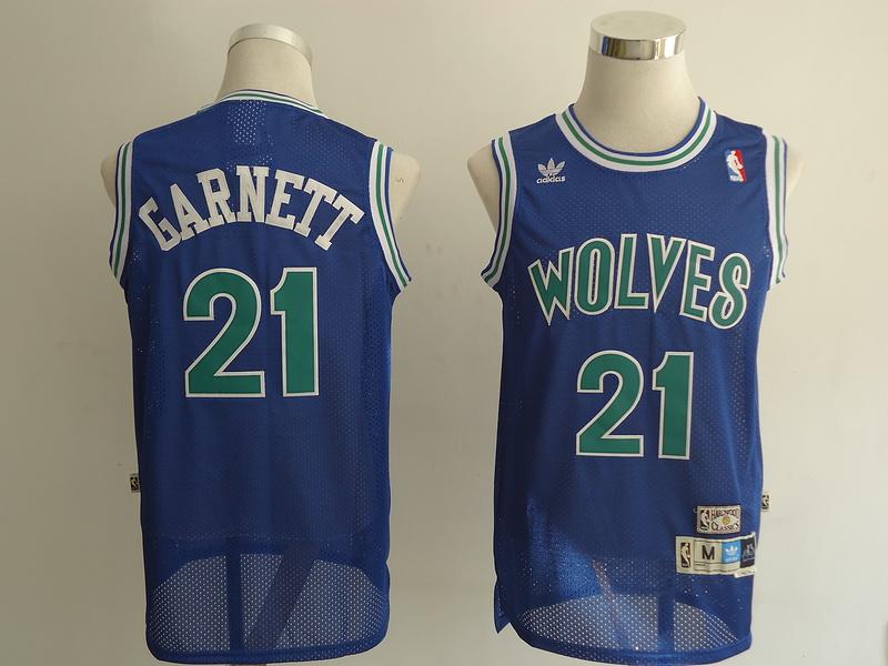 NBA Minnesota Timberwolves 21 Garnett blue Jerseys