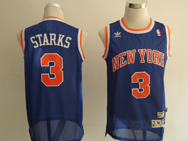 NBA New York Knicks 3 Starks blue Jerseys