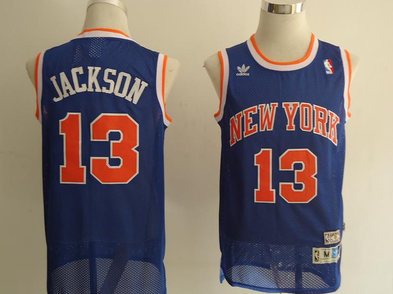 NBA New York Knicks 13 Jackson blue Jerseys