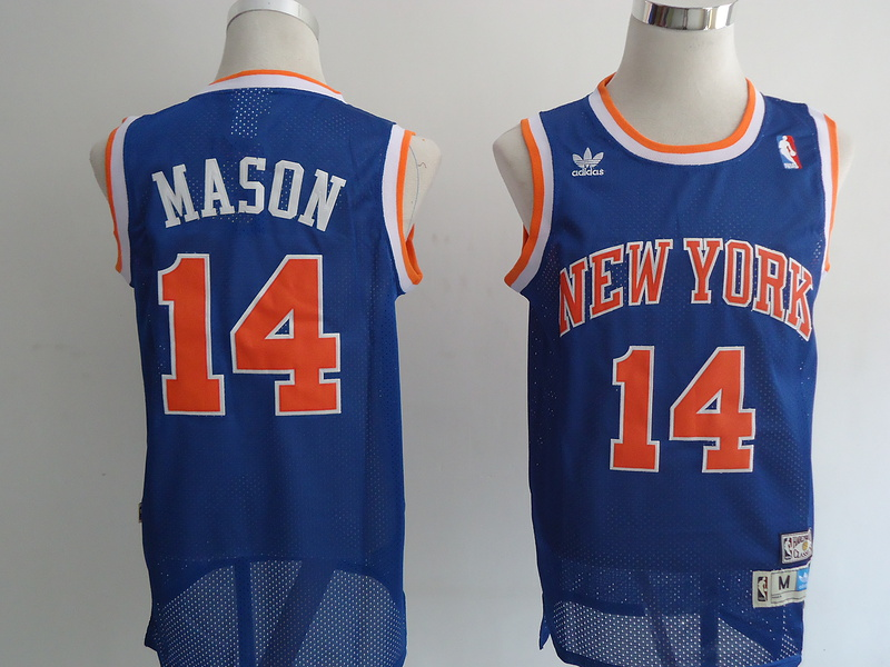 NBA New York Knicks 14 Mason blue Jerseys