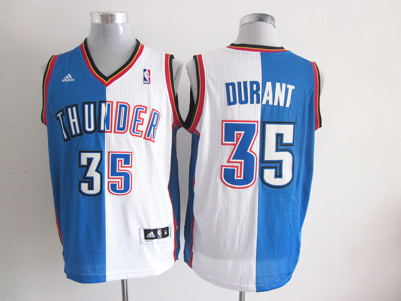 NBA Oklahoma City 35 DURANT blue and white Splitting Special Edition jersey
