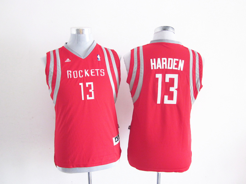 NBA Youth Houston Rockets 13 James Harden Red Jersey