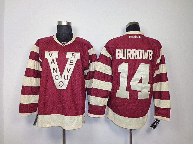 NHL Vancouver Canucks 14 Alex Burrows red Jerseys