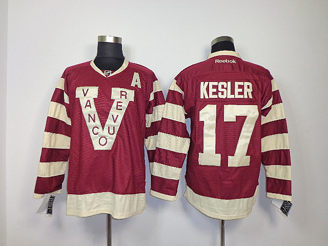 NHL Vancouver Canucks 17 Ryan Kesler red Jerseys