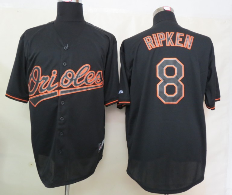 MLB baltimore orioles 8 Ripken Black Fashion Jerseys