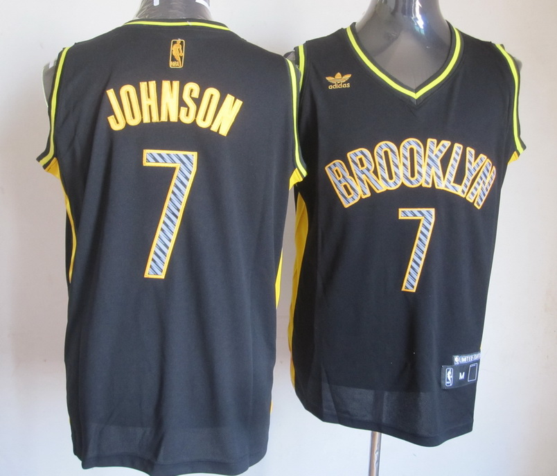 NBA Lightning Brooklyn Nets 7 Joe Johnson Black
