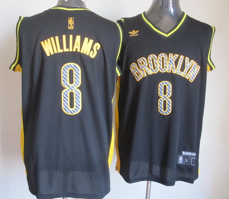 NBA Lightning Brooklyn Nets 8 Deron Williams Black