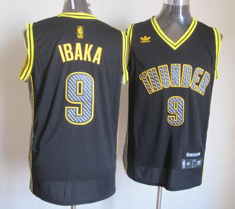 NBA Lightning Oklahoma City Thunder 9 Serge Ibaka Black