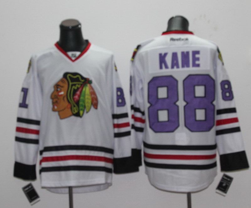 NHL Chicago Blackhawks 88 Patrick Kane White Jersey