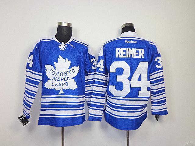 NHL Toronto Maple Leafs 34 James Reimer Blue 2014 Winter Classic