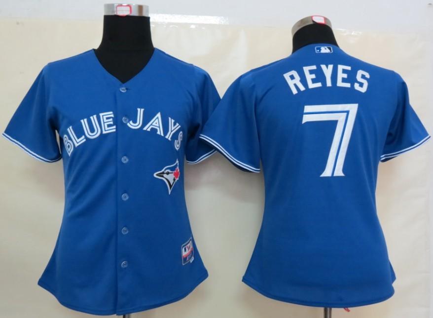 MLB Womens Toronto Blue Jays 7 Reye Blue Jersey