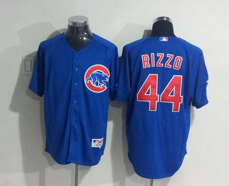 MLB Chicago Cubs 44 Rizzo blue Jersey