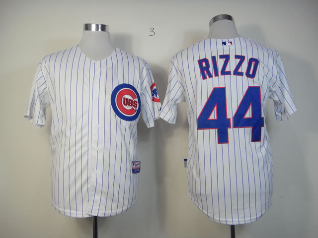 MLB Chicago Cubs 44 Rizzo White Jersey