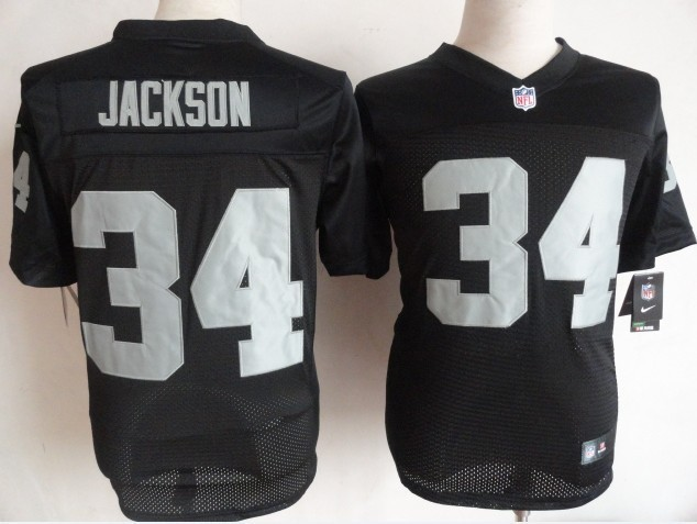 Oakland Raiders 34 Jackson black Nike Elite Jerseys