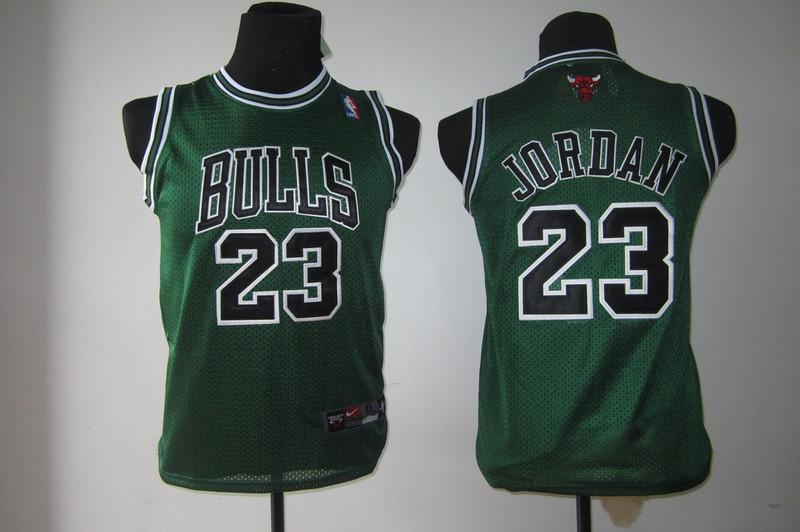 NBA Youth Chicago Bulls 23 Jordan green jerseys
