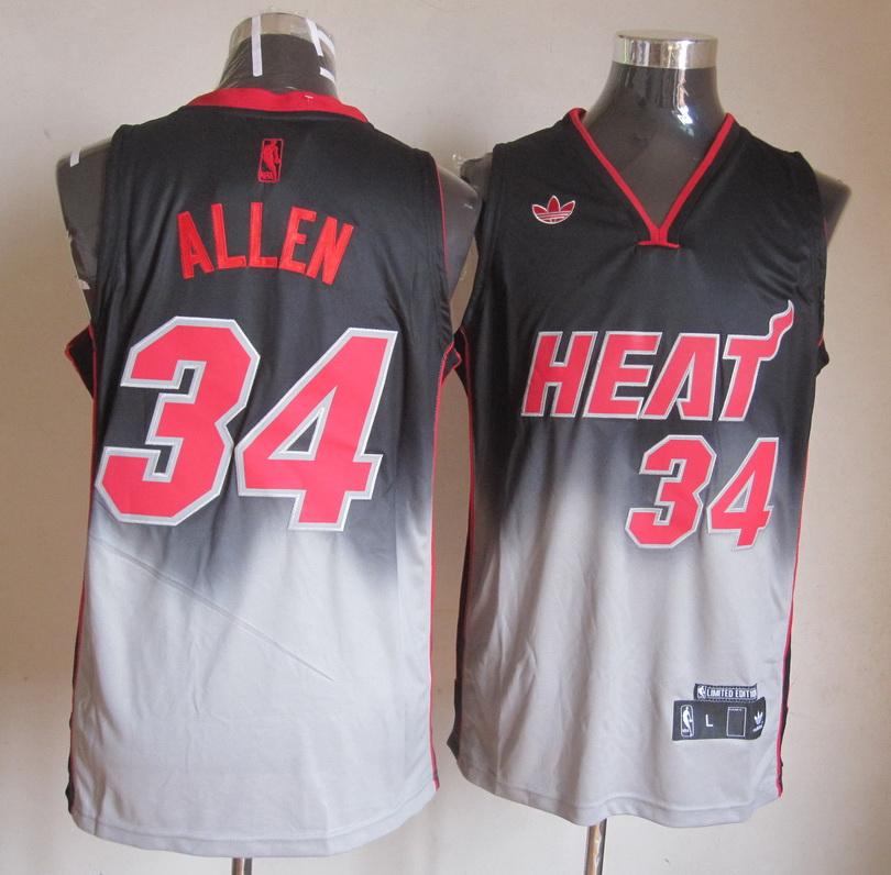 NBA Chicago Bulls 34 Ray Allen Gray Black jerseys