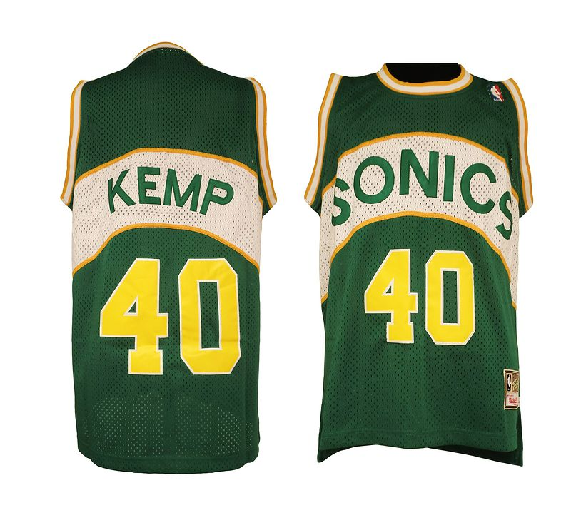 NBA Seattle SuperSonics 40 Shawn Kemp Soul Swingman Jersey