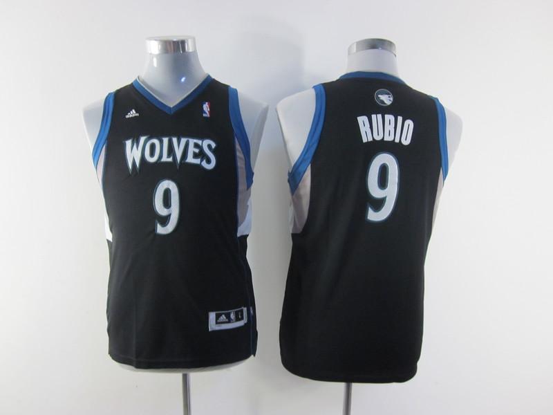 NBA Youth Minnesota Timberwolves 9 Ricky Rubio Black