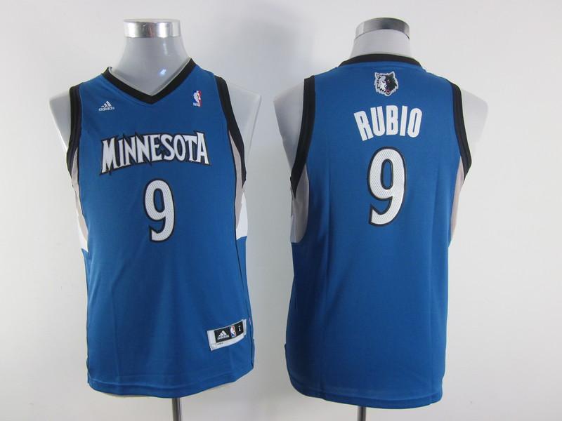 NBA Youth Minnesota Timberwolves 9 Ricky Rubio Blue