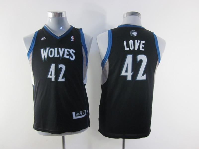 NBA Youth Minnesota Timberwolves 42 Kevin Love black
