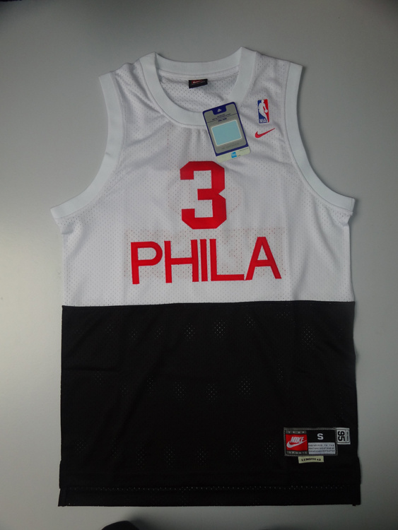 NBA Philadelphia 76ers 3 Allen Iverson white Black