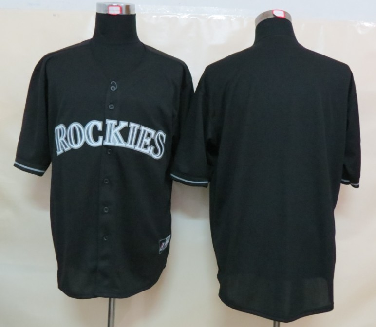MLB Colorado Rockies Blank Black Fashion Jerseys