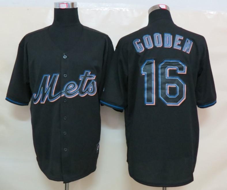 MLB New York Mets 16 Gooden Black Fashion Jerseys