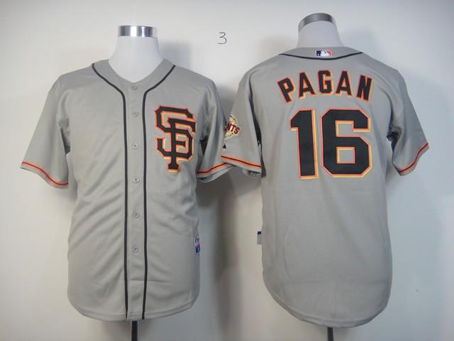 MLB San Francisco Giants 16 Pagan grey jerseys