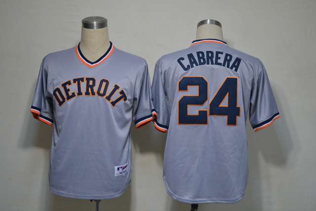 MLB Detroit Tigers 24 Miguel Cabrera Gray Grey Jersey.jpg