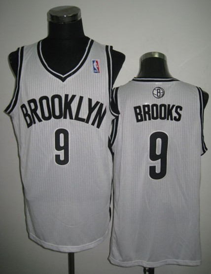 NBA Brooklyn Nets 9 MarShon Brooks White Revolution 30 Jersey