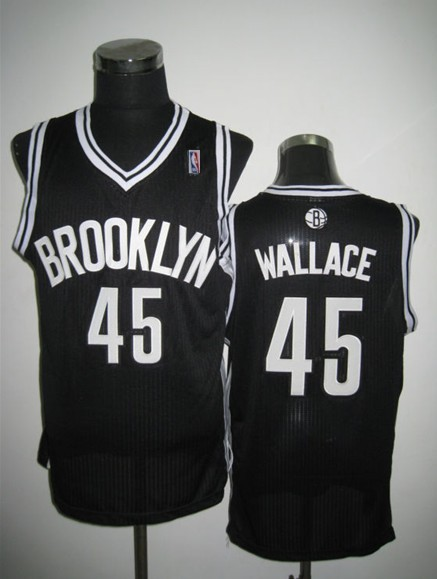 NBA Brooklyn Nets 45 Gerald Wallace Revolution 30 Black