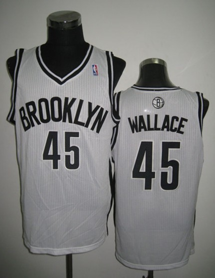 NBA Brooklyn Nets 45 Gerald Wallace Revolution 30 White