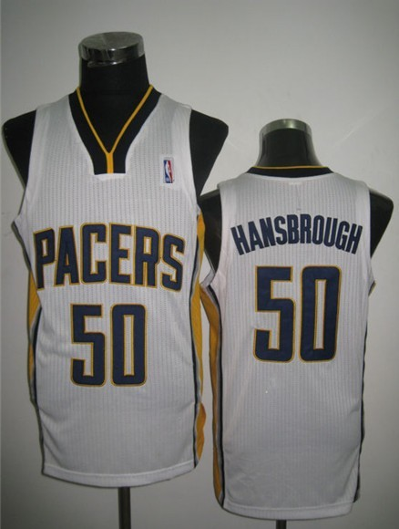 NBA Indlana Pacers 50 Tyler Hansbrough White