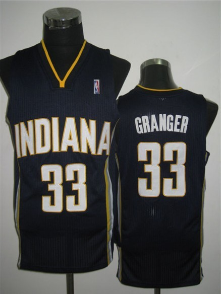 NBA Swingman Indiana Pacers 33 Danny Granger Dark Blue Jersey