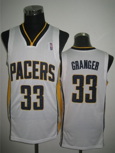 NBA Swingman Indiana Pacers 33 Danny Granger White Jersey