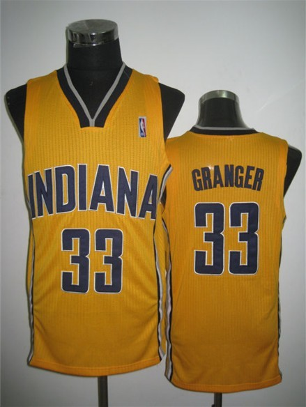 NBA Swingman Indiana Pacers 33 Danny Granger Yellow Jersey