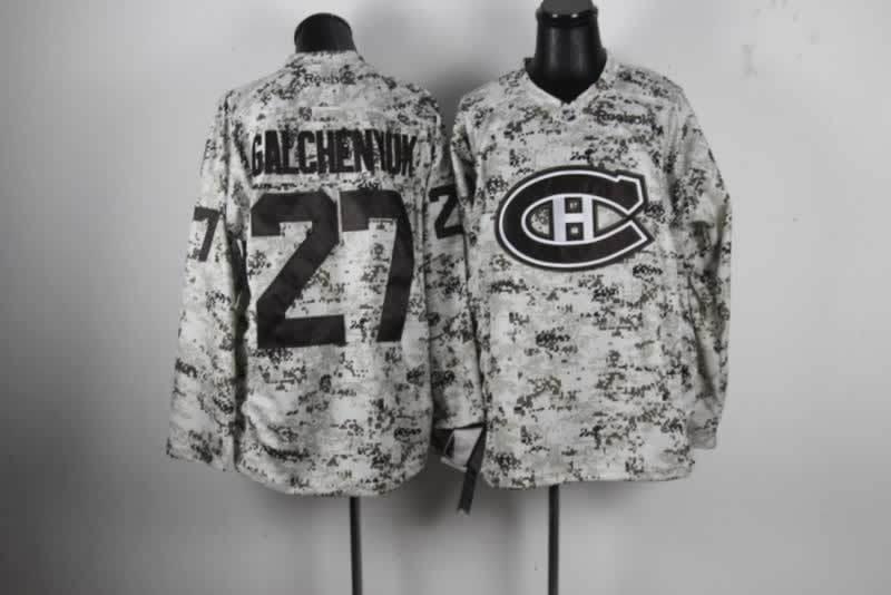 NHL Montreal Canadiens 27 Alexei Kovalev Camo Jersey